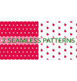 set of two seamless patterns in red color vector image vector image