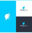 space logo design vector image vector image