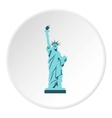 Statue of liberty icon flat style vector image vector image