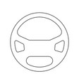 steering wheel the black color icon vector image vector image