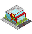 supermarket building isometric view vector image vector image
