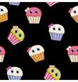 Sweet Tasty Cupcake Seamless Pattern vector image vector image