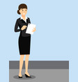 teacher girl in official dress work environment vector image