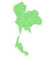 thailand map mosaic of small circles vector image