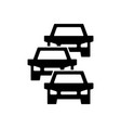 traffic jam icon symbol and sign isolated on vector image