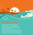 Tropical island and seascape vector image