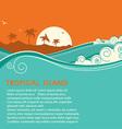Tropical island and seascape