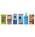 vending machine or automat atm cooler dispenser vector image