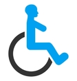 Wheelchair Flat Icon vector image vector image