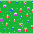 winter holidays seamless background with gift vector image vector image