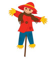 Scarecrow on Stick vector image