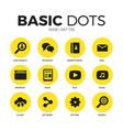 web flat icons set vector image