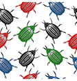 Bug seamless pattern vector image