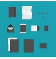 Flat Design of office Stuff vector image