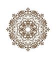 Hand drawn henna tattoo mandala lace vector image
