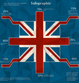 Stylized infographic background vector image