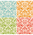 4 seamless floral vintage patterns vector image
