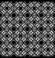 baroque lace seamless pattern black and vector image