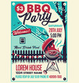 bbq party on the backyard poster vector image vector image