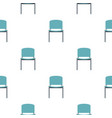 blue office metal chair pattern flat vector image vector image