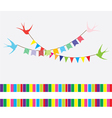 Bunting swallows vector image