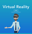business use virtual reality web page concept vector image