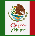 cinco de mayo poster design symbol of the mexican vector image