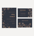 collection wedding invitation and response card vector image vector image