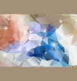 colorful abstract background shiny polygon vector image
