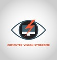 computer vision syndrome vector image