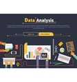 Concept of business Data collection Analysis vector image