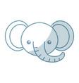 cute shadow elephant face cartoon vector image vector image