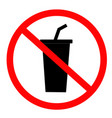 do not drink icon on white background flat style vector image vector image