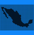 dotted pixel mexico map vector image