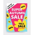 Eye catching design autumn sale vector image