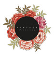 flowers frame inspired embroidery the vector image
