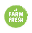 fresh healthy organic vegan food badge vector image vector image