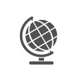 globe icon on a white background vector image vector image