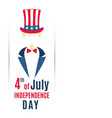 greeting banner for 4th of july usa independence vector image vector image