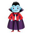 happy cute dracula character with blue face on vector image