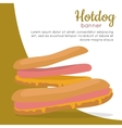Hot Dog Sandwich with Sausage vector image vector image