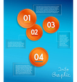 Info graphic circles with place vector image vector image