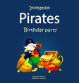 invitation to a pirate party vector image vector image