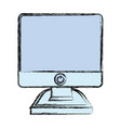 isolated pc screen vector image vector image