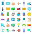 joystick icons set cartoon style vector image