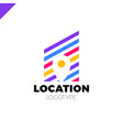 Logo location map negative space symbol in the