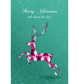 Merry Christmas abstract geometric reindeer card vector image vector image