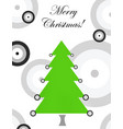 merry christmas card with evil eye vector image vector image