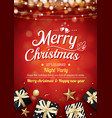 merry christmas party light and gift box vector image vector image