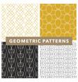 mono line art deco geometric pattern set vector image vector image